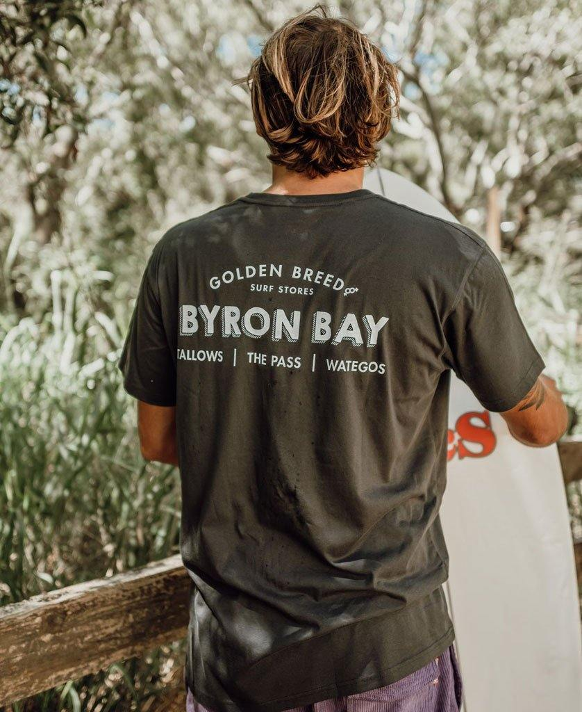 Byron Old School Tee | Wash Black
