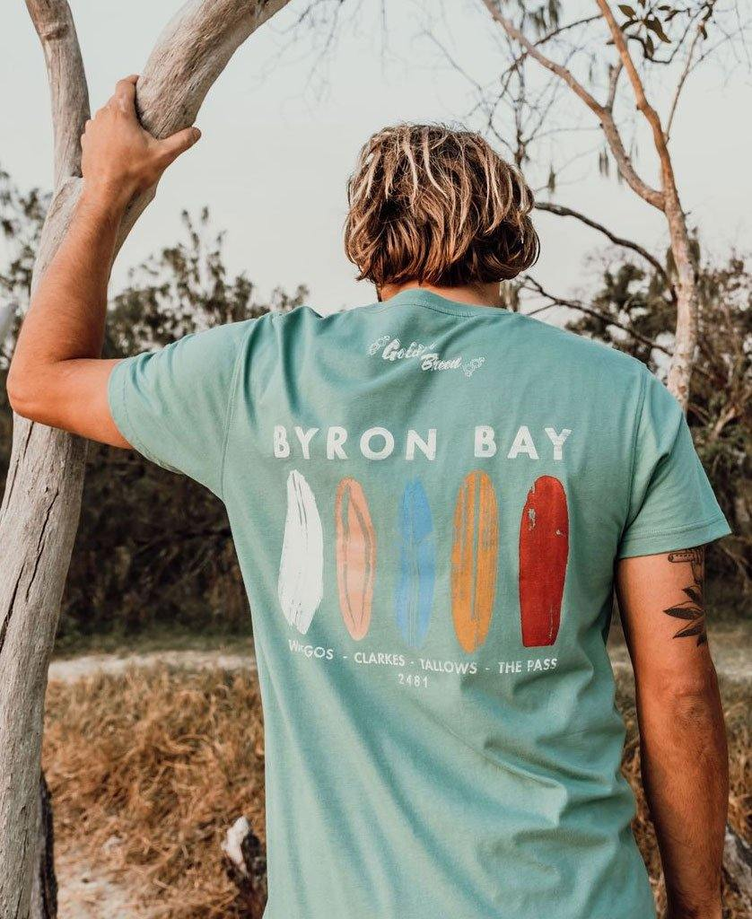 Byron Boards Tee | Surf Green