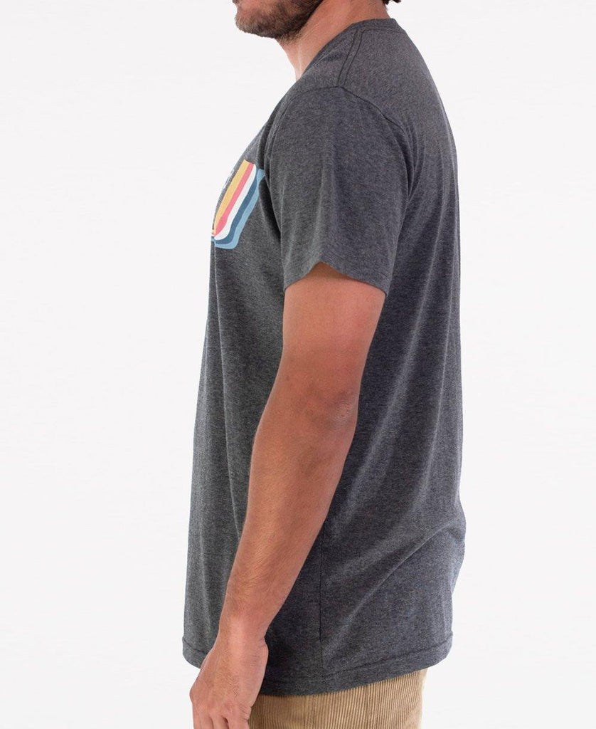 Deluxe Retro Surf Tee | Charcoal
