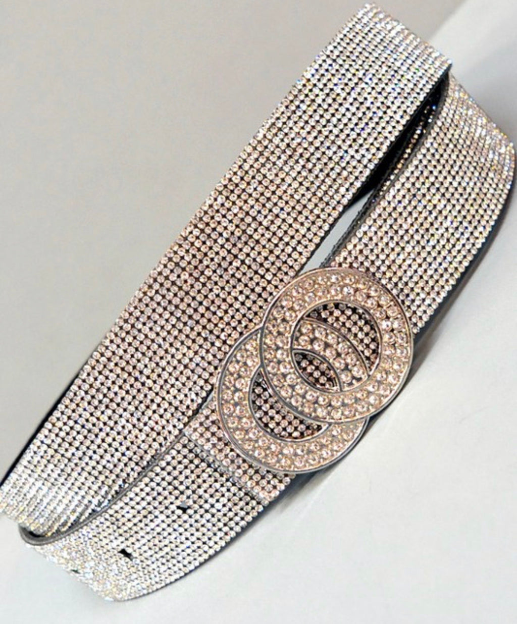 Double Circle Bling Belt