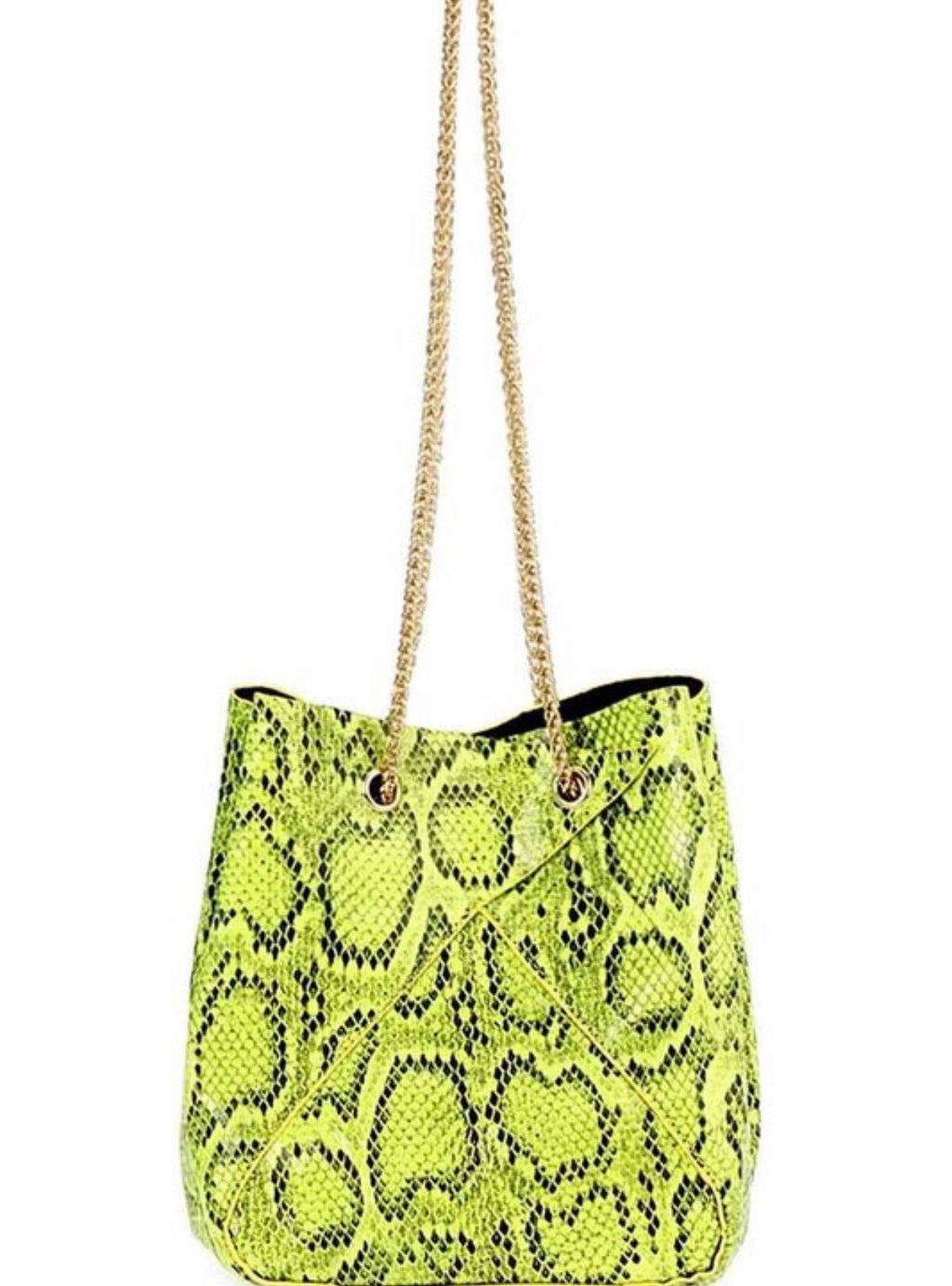 Lime Green Snakeskin handbag