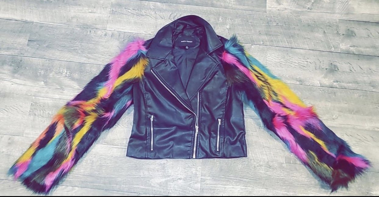 Multi Faux Fur Jacket