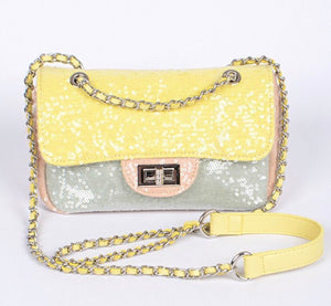 Sequin Chain Handbag