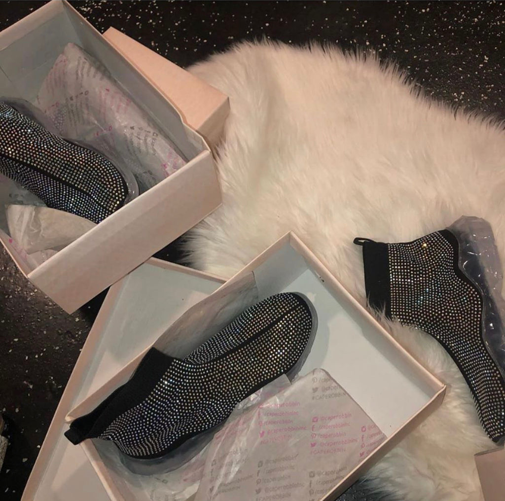 Black Bling Sneakers