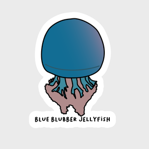 Blue Blubber Jellyfish Sticker