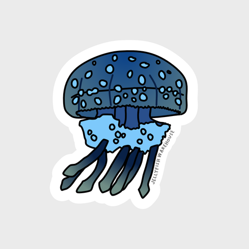 Spotted Lagoon Jellyfish Sticker