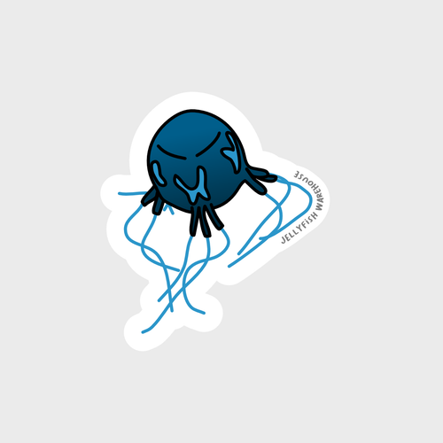 Mangrove Box Jellyfish Sticker
