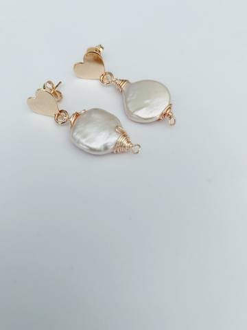 mother of pearl earrings,whithe drop,white earring - Cheleaccesorios