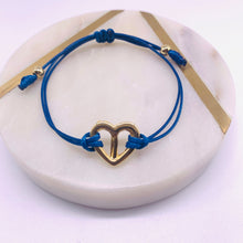 Load image into Gallery viewer, Peace heart cord bracelets