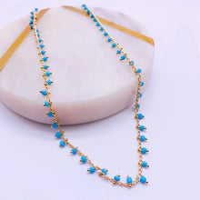 Load image into Gallery viewer, Turquoise beaded choker