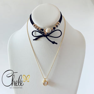 Set choker & necklace - Cheleaccesorios