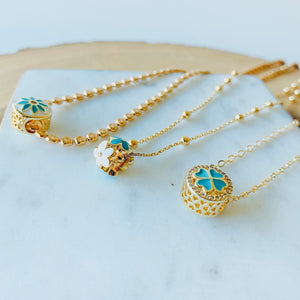 Turquoise & Gold layer necklace