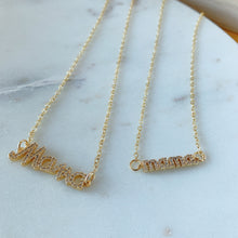 Load image into Gallery viewer, Micropave MAMÁ pendant necklaces