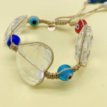 Load image into Gallery viewer, Evil eye hearts bracelet