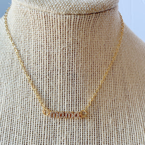 Micropave MAMÁ pendant necklaces