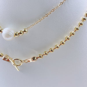 Set ball chain whithe & gold