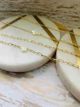 Load image into Gallery viewer, Mother of pearl gold filled necklaces