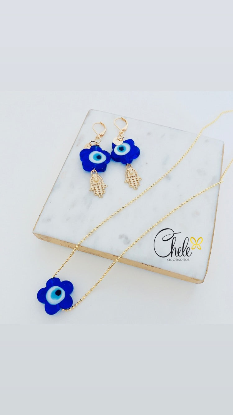 Good vibes set earrings & necklace - Cheleaccesorios