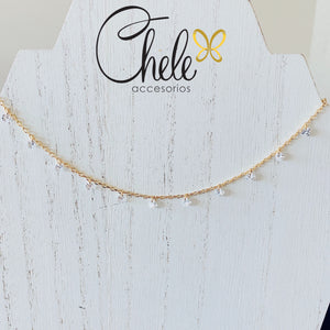 Faceted crystal necklace - Cheleaccesorios