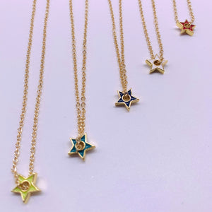 Mini  colors star necklace