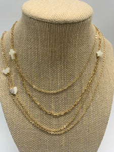 Mother of pearl gold filled necklaces