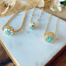 Load image into Gallery viewer, Turquoise & Gold layer necklace
