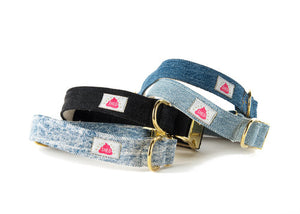 Black Wash Denim collar