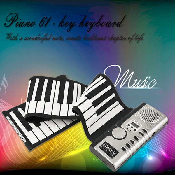 New Portable 61 Keys Universal Flexible Roll Up Electronic Piano Soft Keyboard Piano Top quality