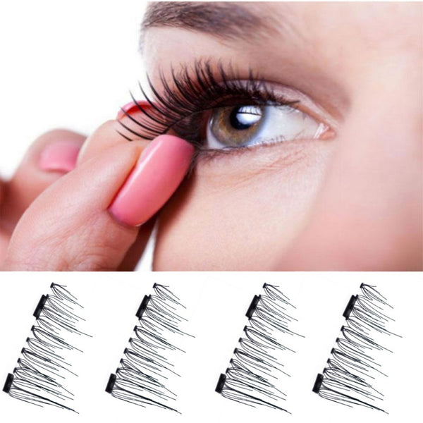 1 Pairs 3D Magnetic False Eyelashes Handmade Soft Natural Makeup Mink Magnet Fake Eyelashes Natural Eye Lashes Extension
