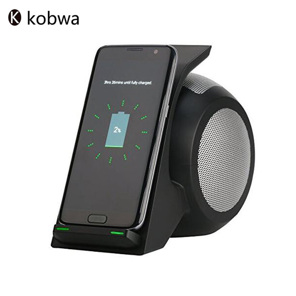 Bluetooth 4.0 Wireless Fast Charging Stand&Stereo Speaker Portable Rechargeable Devices For Samsung iPhone Andriod Smartphones