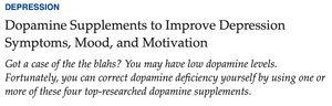 Dopamine Supplements to Improve Depression Symptoms, Mood & Motivation - University Health News