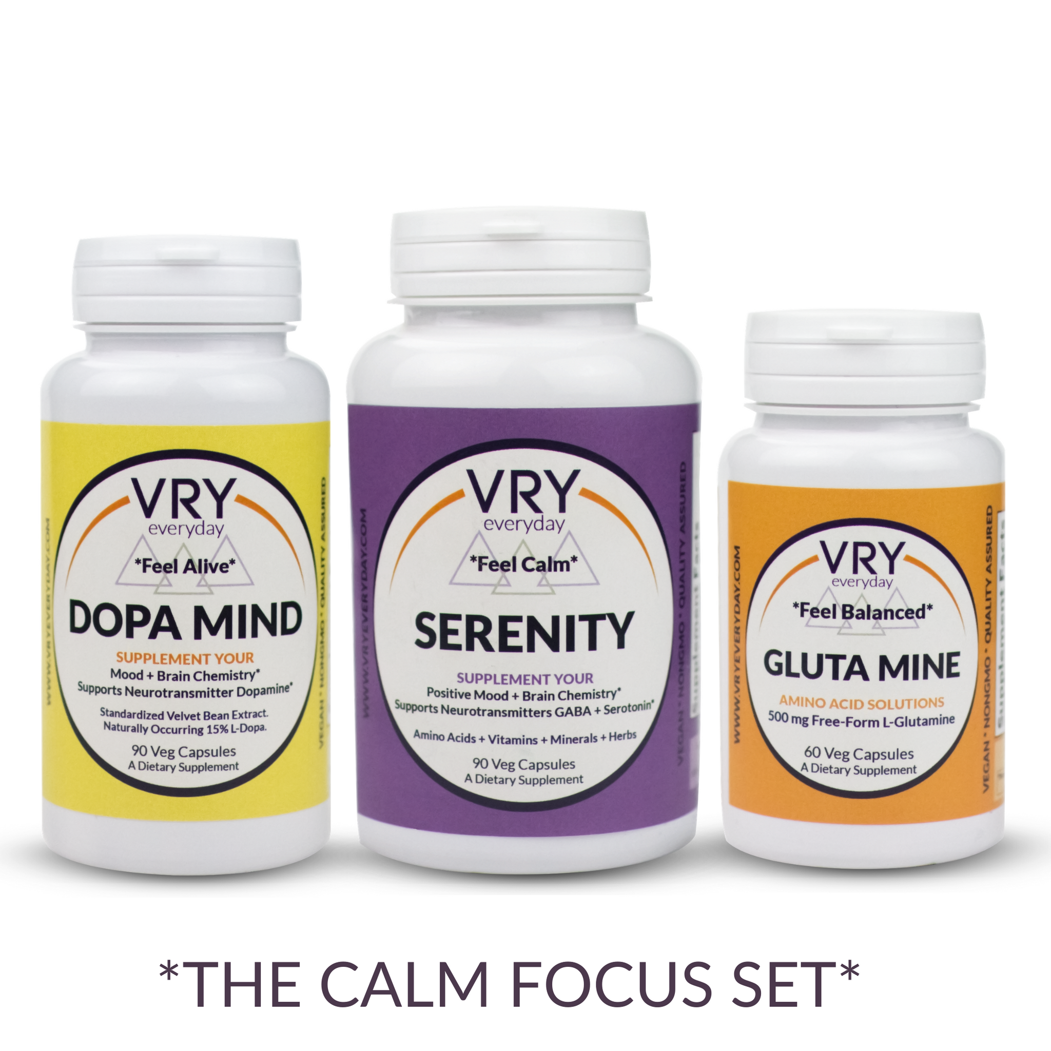 VRY MOOD BALANCE SUPPLEMENTS CALM FOCUS SET