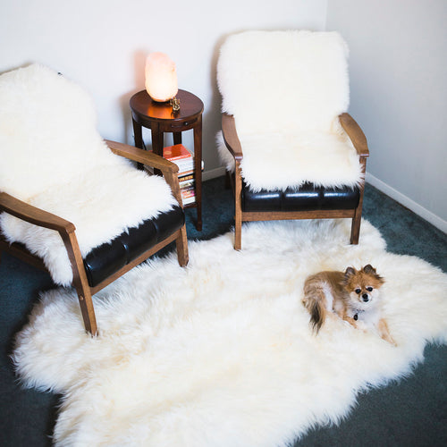 White Quartz Fluffy Area Rug