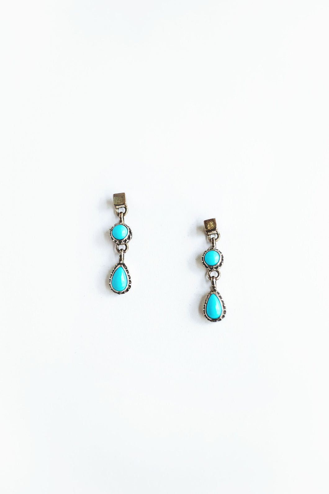 Turquoise post dangle