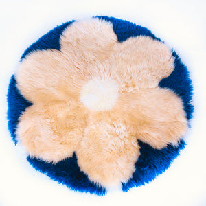 Flower Power Sheepskin Rug