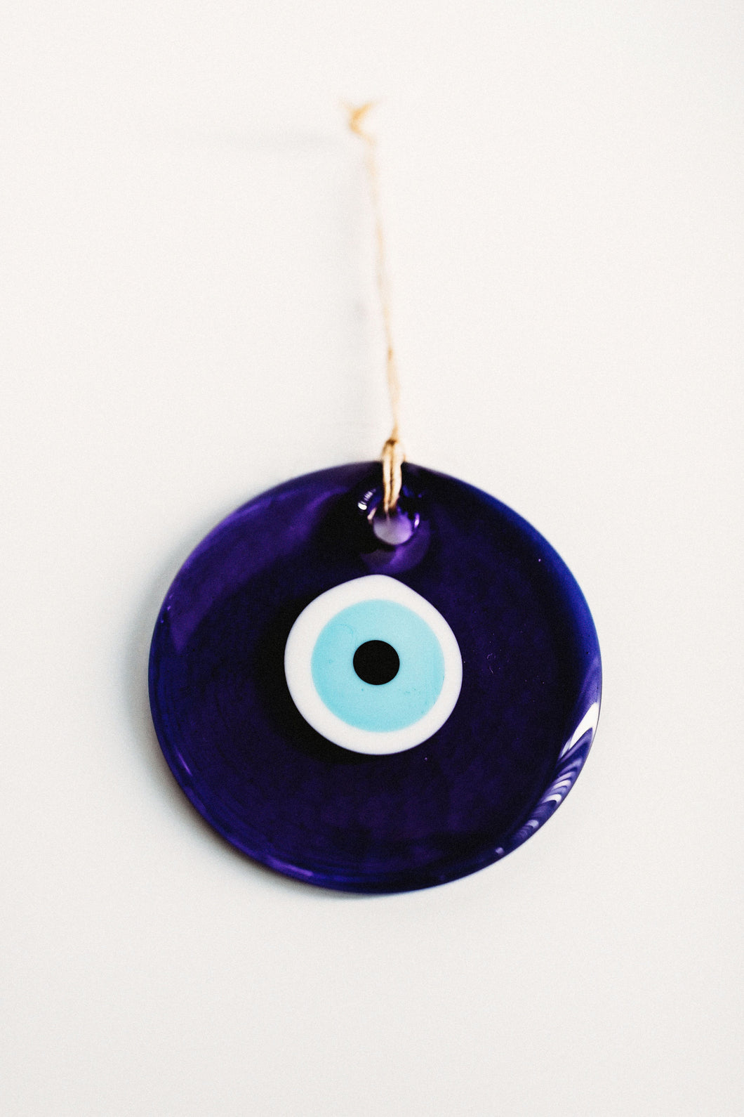 Hanging Blue Glass Evil Eye