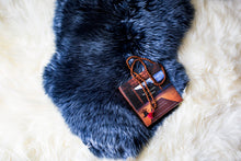 Lapis Silver Tipped Sheepskin