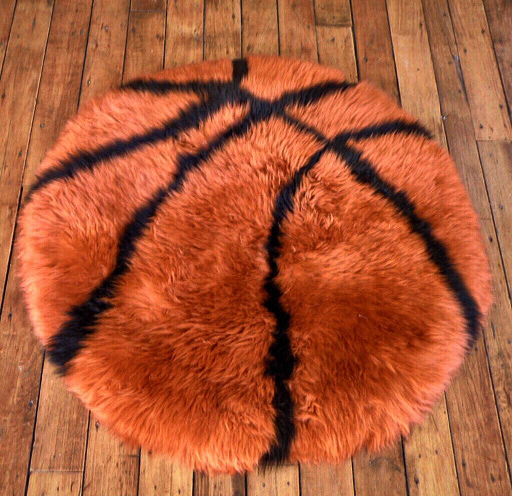 Basketball Sheepskin Rug
