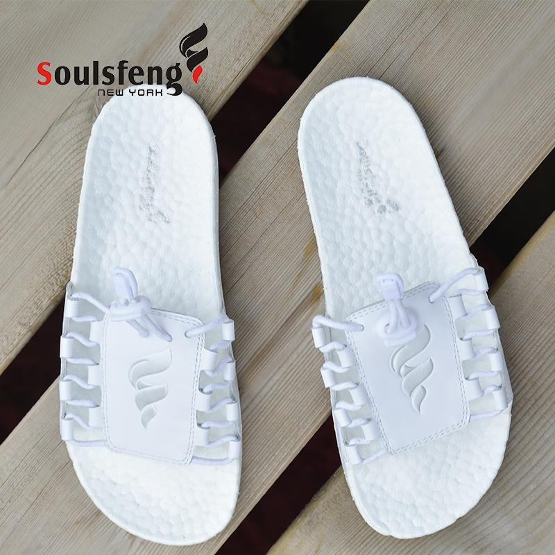 Lace up-Solepad Slide Sandal - Soulsfeng