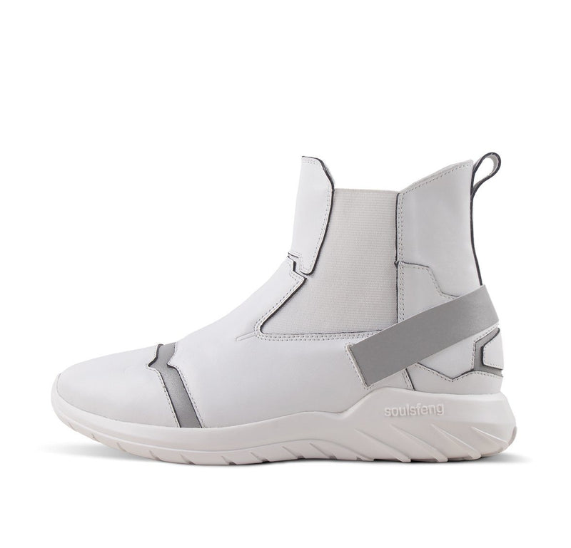 Laceless Sneaker One Step For Man High Tops White
