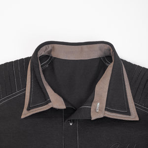 Flax-like leisure suit(shirt)