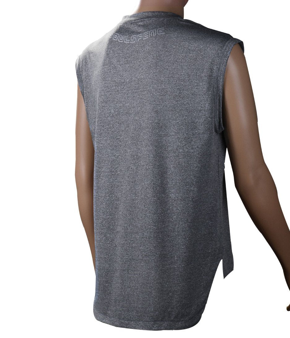 Sport Sleeveless Shirt Men(White/Black/Grey) - Soulsfeng