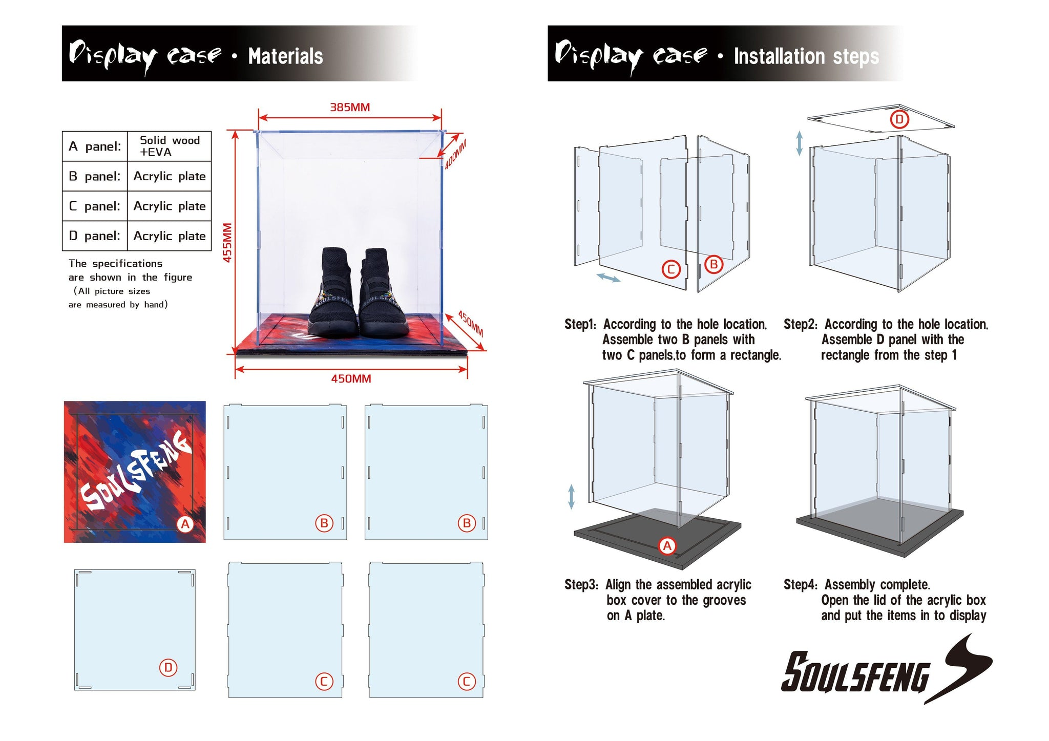 Soulsfeng Storage Shoes Box