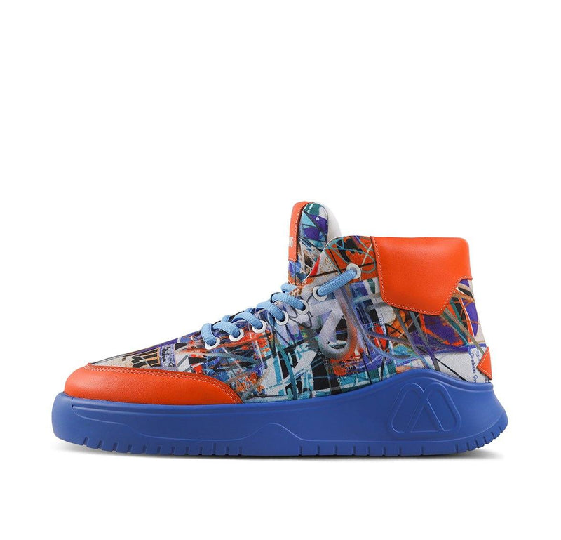 iPaint Graffiti Sneaker Blue Orange