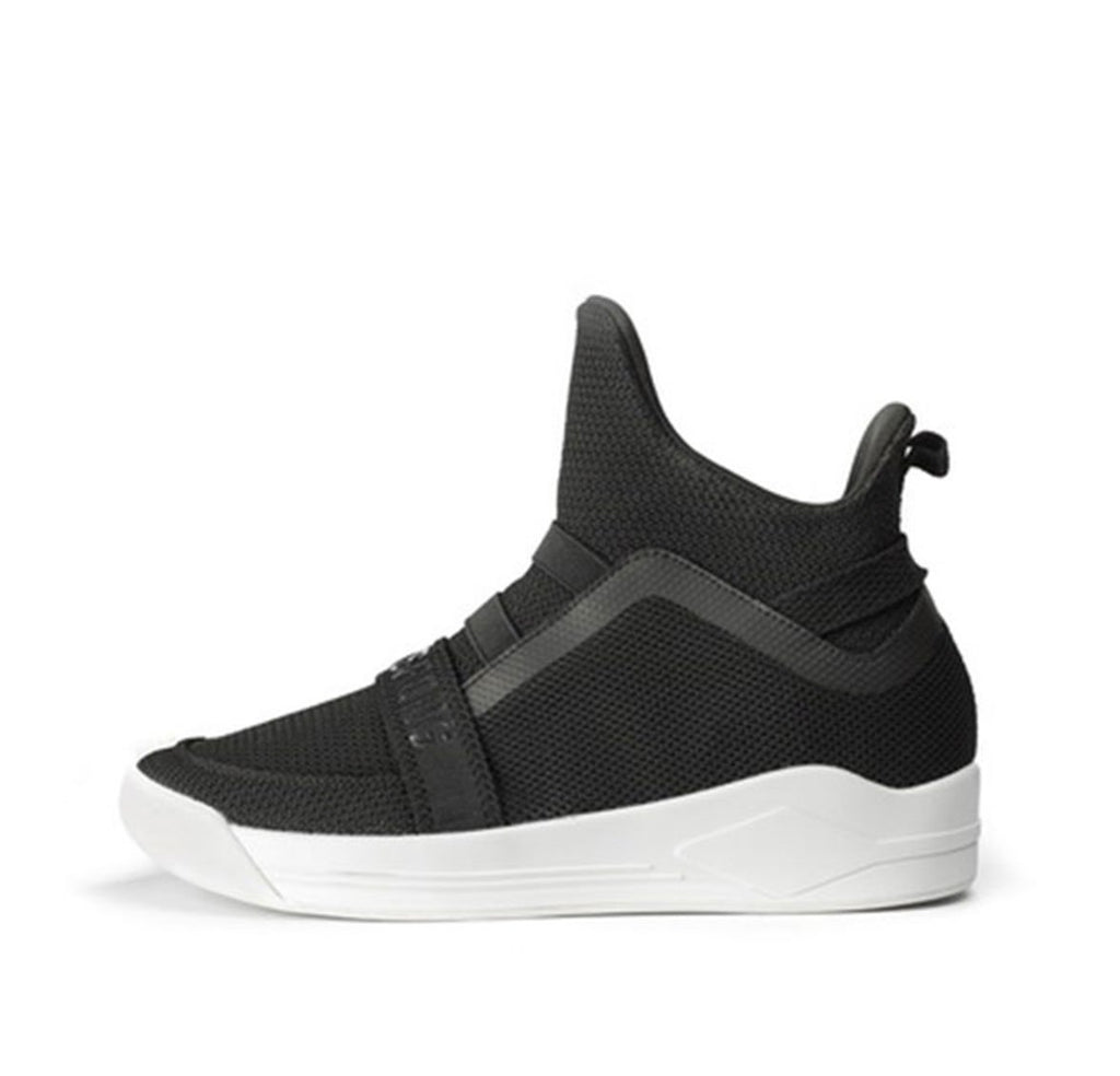 Mesh Knit High Tops(White/All Black/Black White) - Soulsfeng