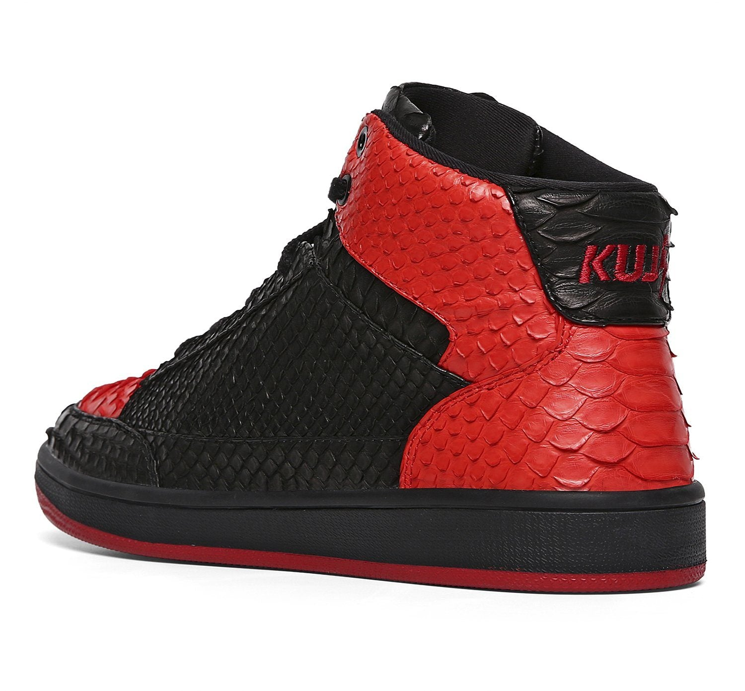 Vintage Snakeskin Leather High Top Shoes - Soulsfeng