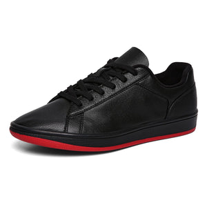 Leather Skating Shoes Black - Soulsfeng