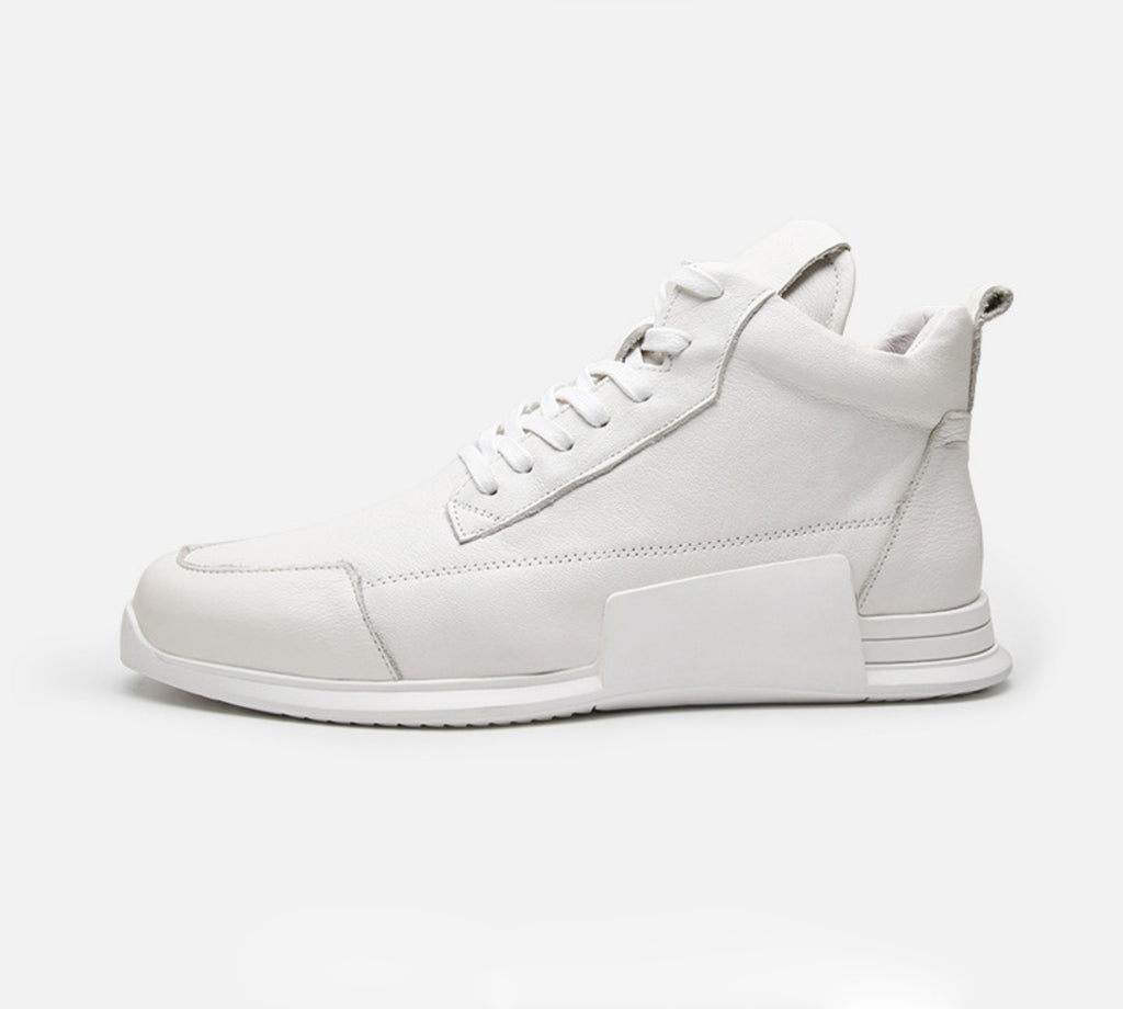 Leather Middle Sneaker White