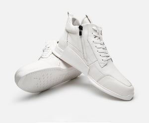 Leather Middle Sneaker White - Soulsfeng