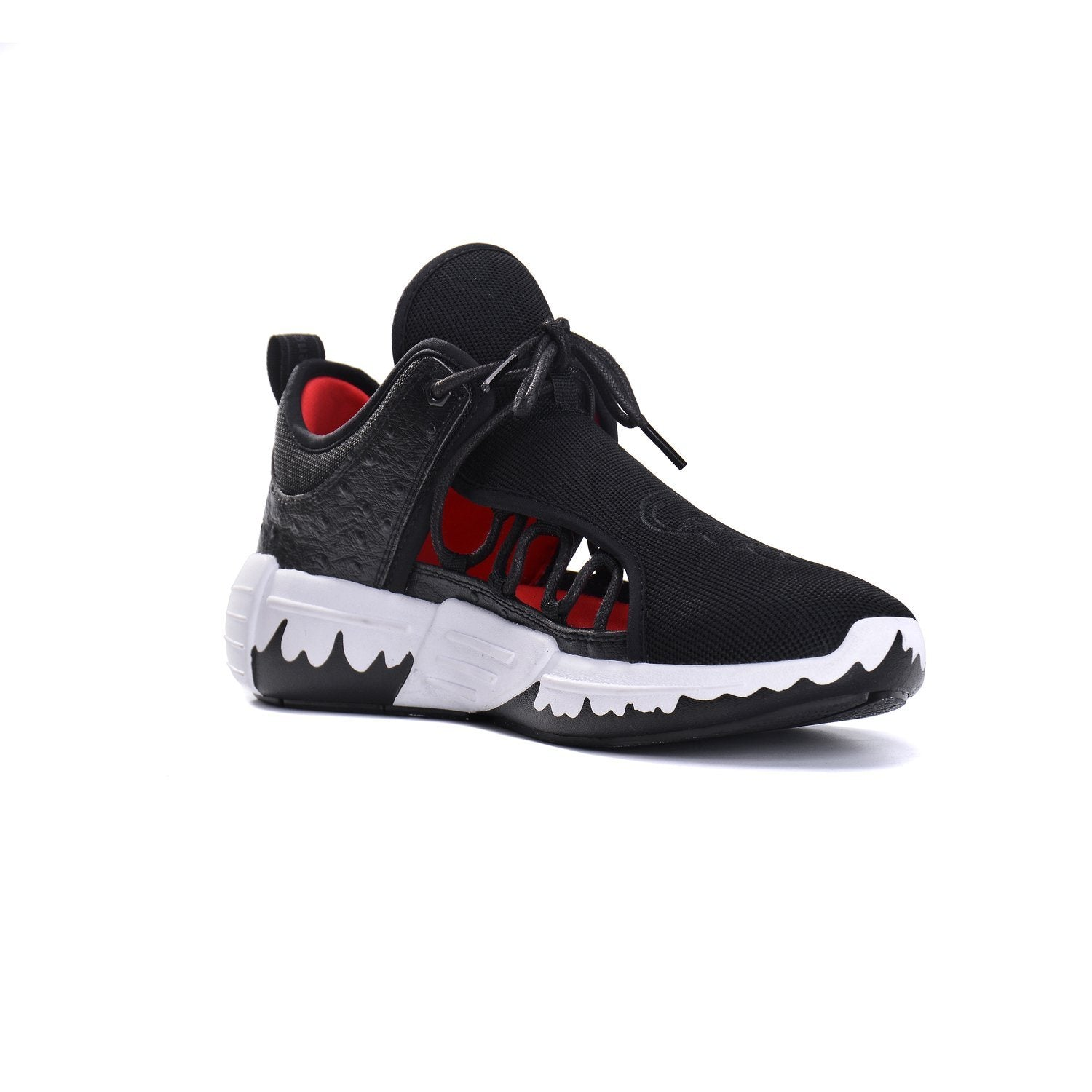Hollow Out Fashion Sneakers(Black/White/Camouflage) - Soulsfeng